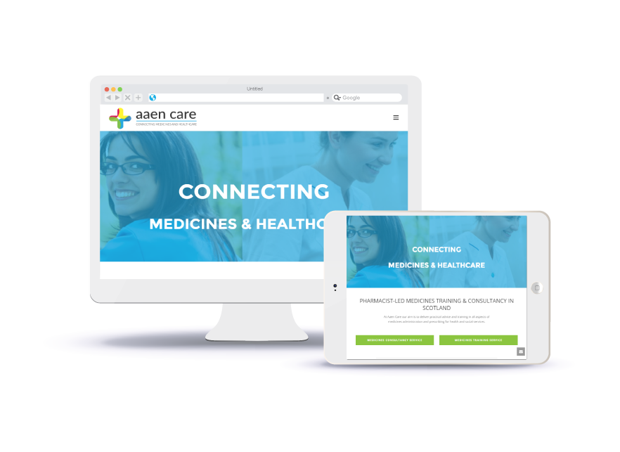 Aaen Care Website (Desktop & Tablet)